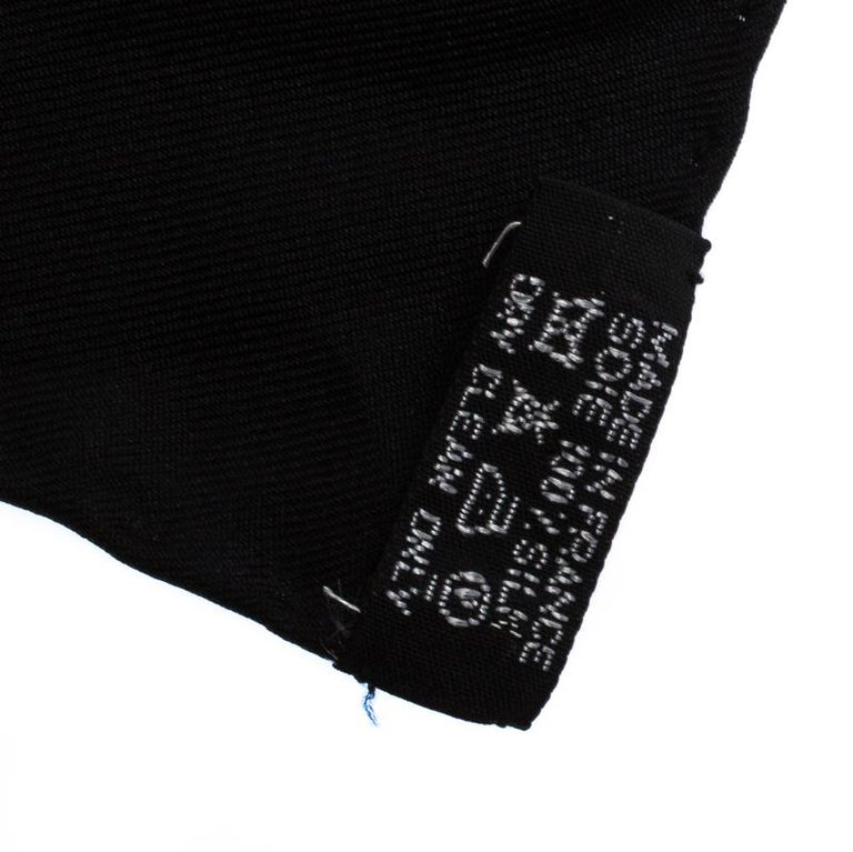 Hermès Black and Gold Brandebourgs Silk Twill Scarf For Sale 1