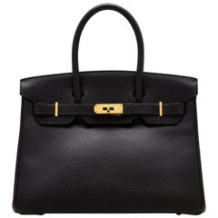 Hermes Black Ardennes 30cm Birkin Bag