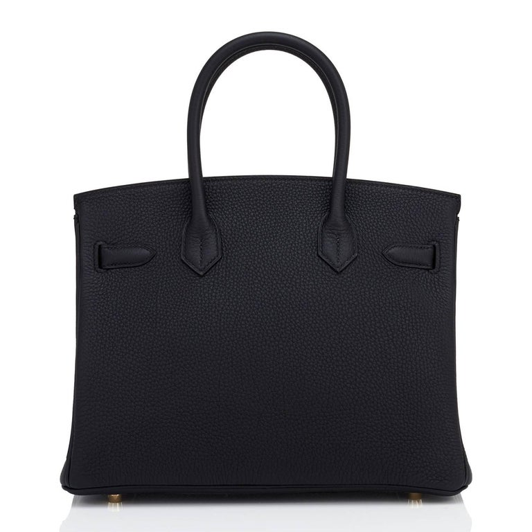 Hermes Black Birkin 30cm Togo Gold Hardware Bag NEW For Sale 2