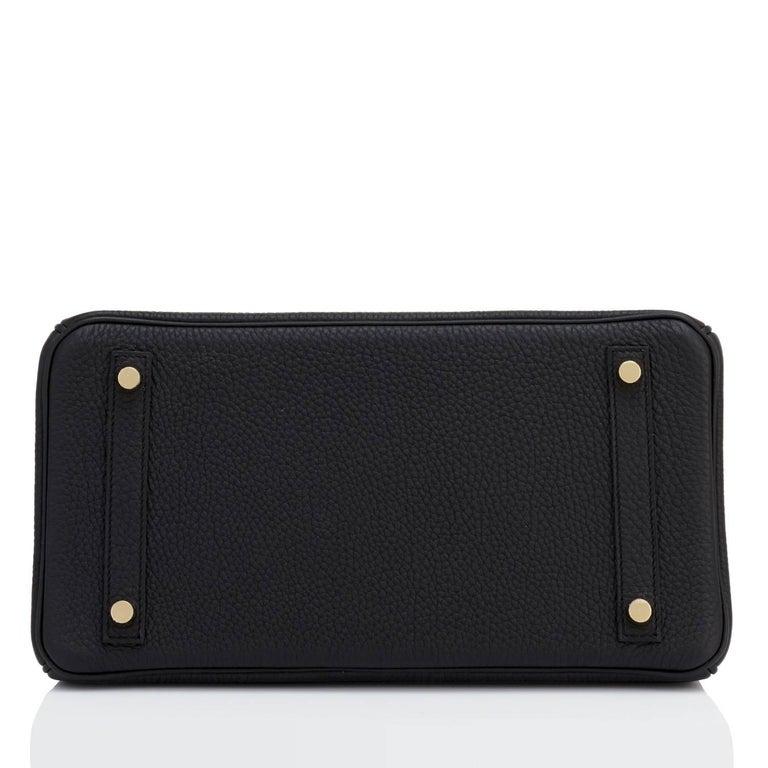 Hermes Black Birkin 30cm Togo Gold Hardware Bag NEW For Sale 4