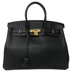 Hermes Black Birkin 35 Bag