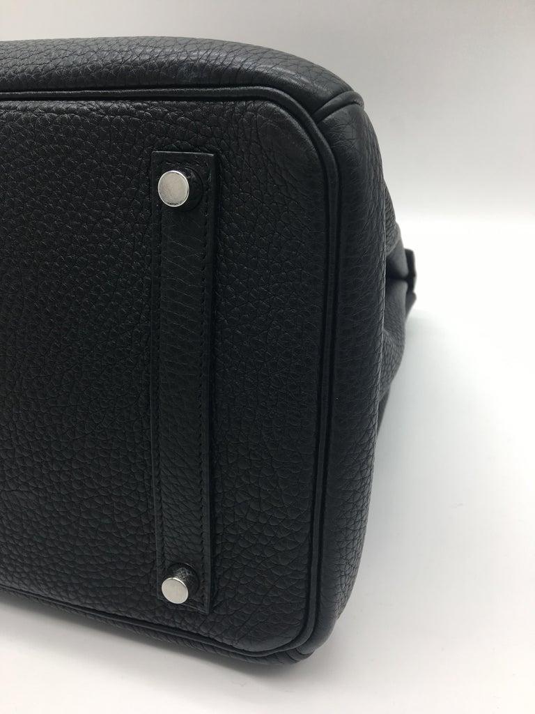 Hermes Black Birkin 35 in Togo with Palladium For Sale 4