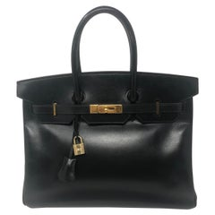 Hermes Black Birkin 35 Swift