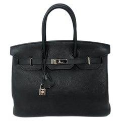 Hermes Black Birkin Palladium Hardware