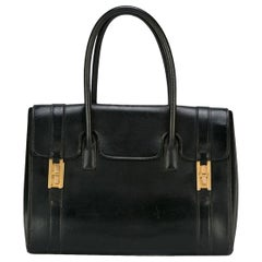 Hermes Black Box Calf Drag Tote Bag