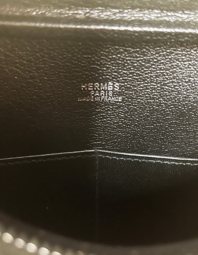 Hermes Black Box Leather 28cm Plume Bag For Sale 6