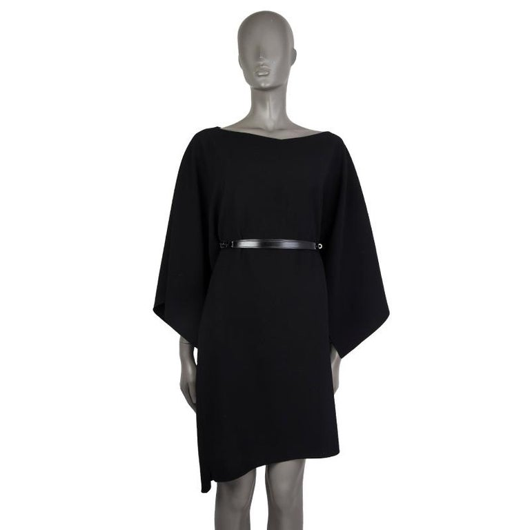 Women's or Men's HERMES black Box leather JOSEPHINE Belt 90  For Sale