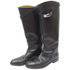 Hermés Black Box Leather Jumping Boot