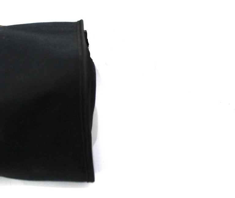 Hermès Black Canvas and Leather Herbag Zip 39 Bag For Sale 6