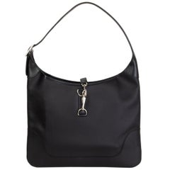 HERMES black Chamonix leather TRIM 35 Shoulder Bag