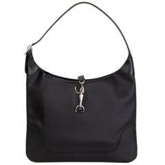 HERMES black Chamonix leather TRIM 35 Shoulder Bag
