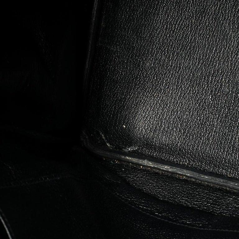 Hermes Black Clemence Leather Gold Hardware Birkin 35 Bag For Sale 12