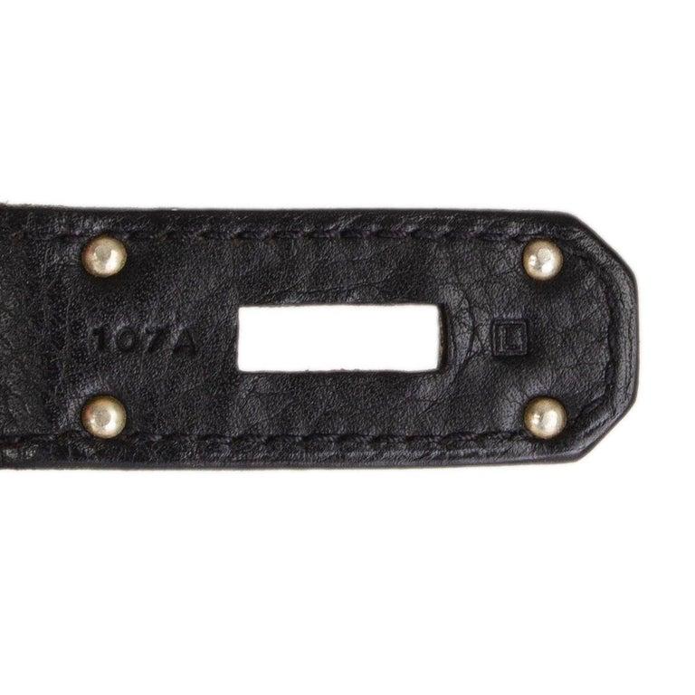 HERMES black Clemence leather & Palladium JPG I SHOULDER BIRKIN Bag For Sale 3