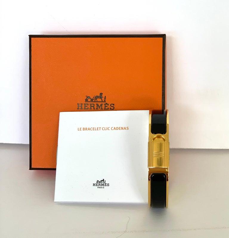 Hermes Clic Cadenas Bracelet Newest Style  Color: Black Size PM  Circumference: 7