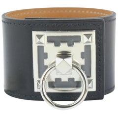 Hermès Black Creneau Cuff 19hz1009 Bracelet