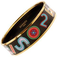 Hermès Black Enamel Tohu Bohu Bracelet