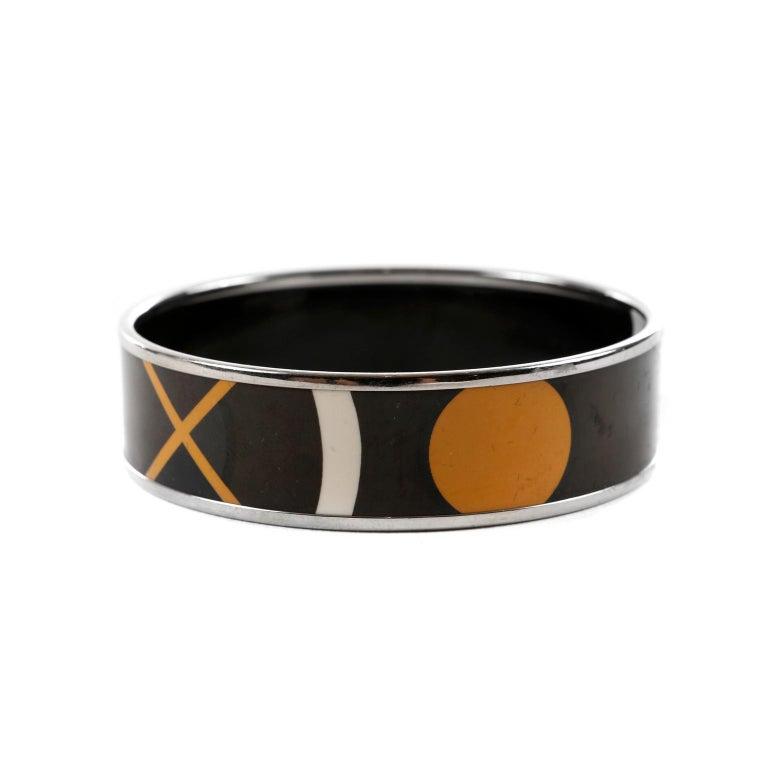 Hermès Black Enamel X Bracelet In Good Condition In Palm Beach, FL