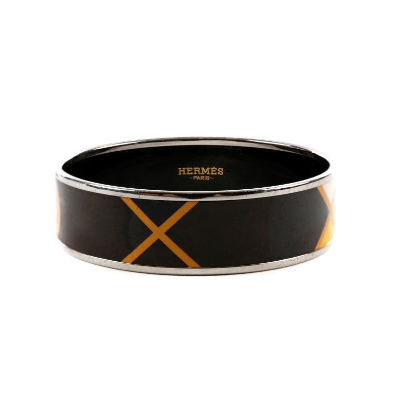 Hermès Black Enamel X Bracelet 1