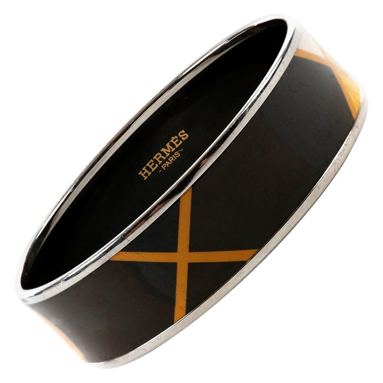 Hermès Black Enamel X Bracelet