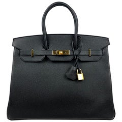 Hermès Black Epsom 35 cm Birkin with Gold Hardware