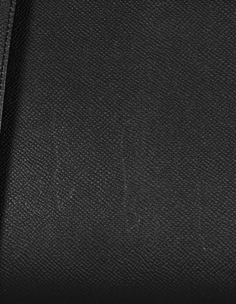 Hermes Black Epsom Leather 32cm Sellier Kelly Bag w/ Palladium Hardware For Sale 5