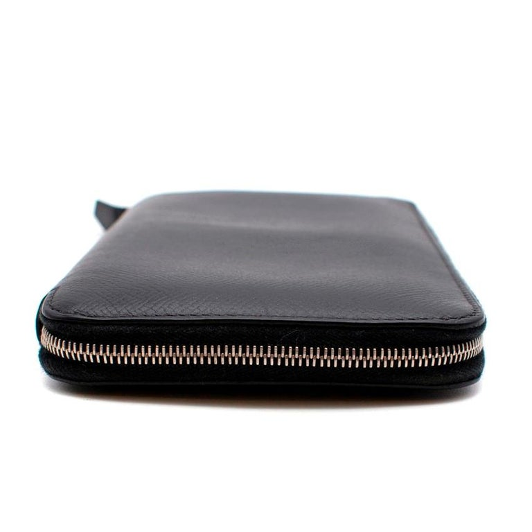 Hermes Black Epsom Leather Azap Classic Wallet PHW  Age - [N] 2010  Wallet in Epsom Leather with 12 credit card slots, 4 pockets, bill pocket, change purse with zip closure and palladium plated zip closure  Made in France  Dust Bag