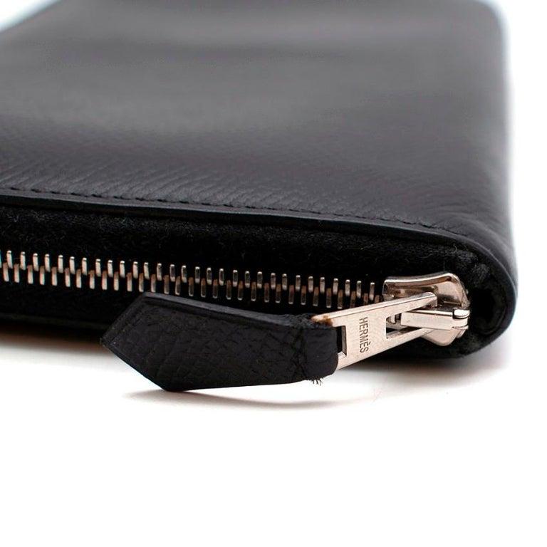 Hermes Black Epsom Leather Azap Classic Wallet PHW For Sale 1