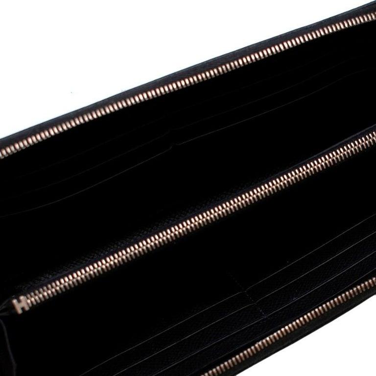 Hermes Black Epsom Leather Azap Classic Wallet PHW For Sale 2