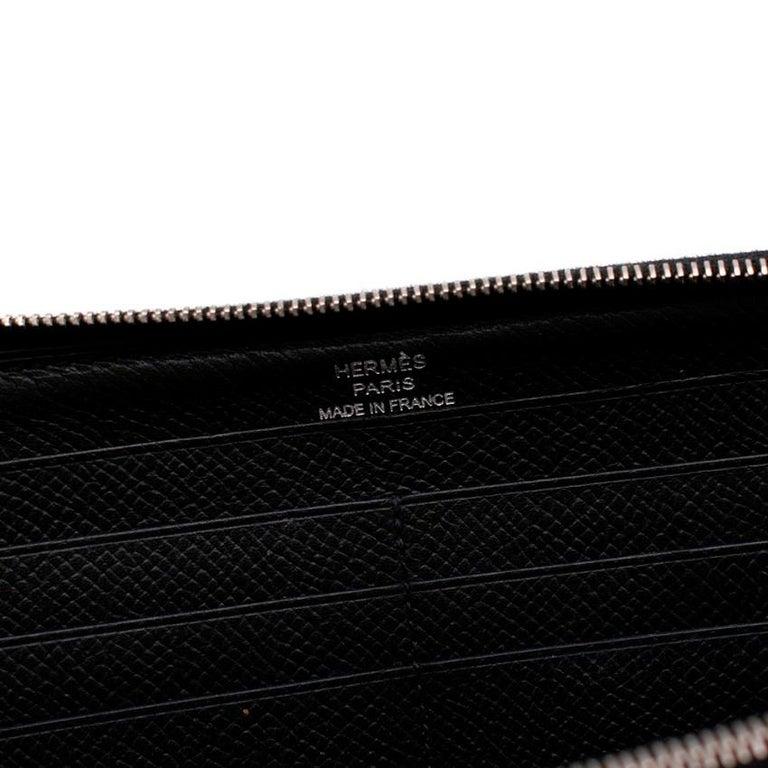 Hermes Black Epsom Leather Azap Classic Wallet PHW For Sale 3