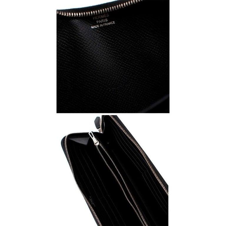 Hermes Black Epsom Leather Azap Classic Wallet PHW For Sale 5