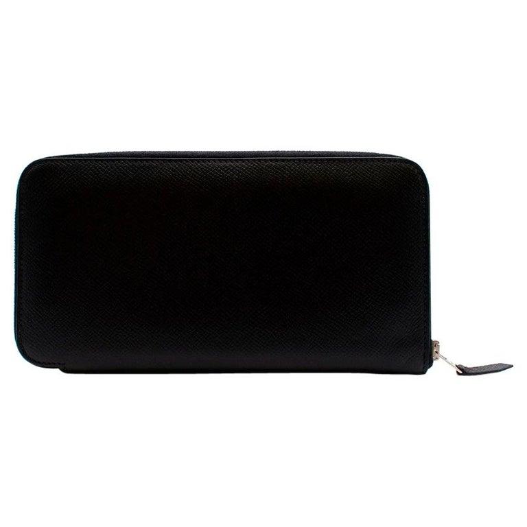 Hermes Black Epsom Leather Azap Classic Wallet PHW For Sale