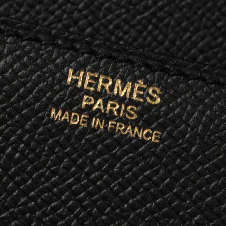 Hermes Black Epsom Leather Gold Hardware Cherche Midi 25 Bag 6