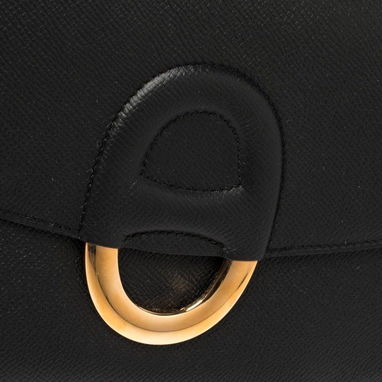 Hermes Black Epsom Leather Gold Hardware Cherche Midi 25 Bag 7