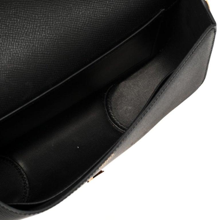 Hermes Black Epsom Leather Gold Hardware Cherche Midi 25 Bag 8