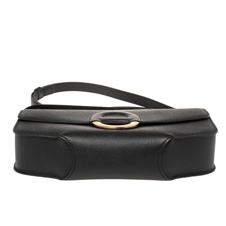 Hermes Black Epsom Leather Gold Hardware Cherche Midi 25 Bag 1