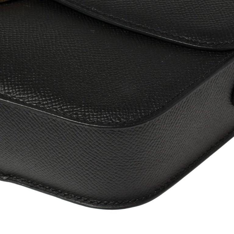 Hermes Black Epsom Leather Gold Hardware Cherche Midi 25 Bag 2