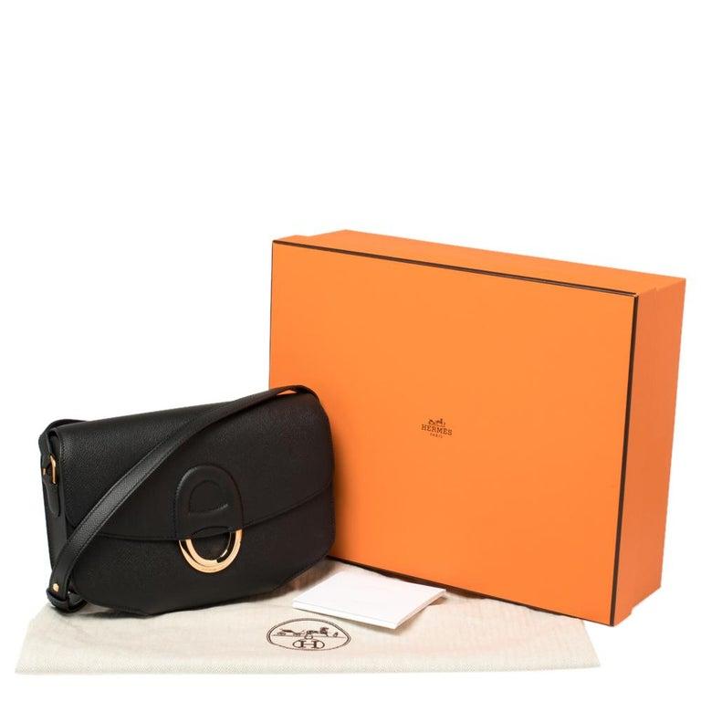 Hermes Black Epsom Leather Gold Hardware Cherche Midi 25 Bag 3