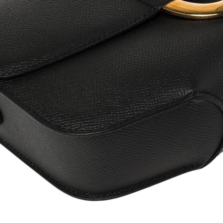 Hermes Black Epsom Leather Gold Hardware Cherche Midi 25 Bag 4