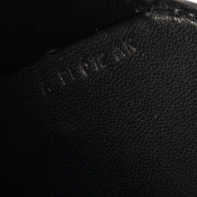 Hermes Black Epsom Leather Gold Hardware Cherche Midi 25 Bag 5