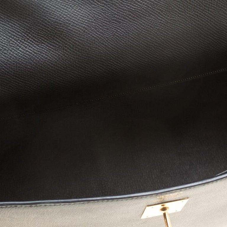 Hermes Black Epsom Leather Gold Hardware Kelly Sellier 40 Bag For Sale 3