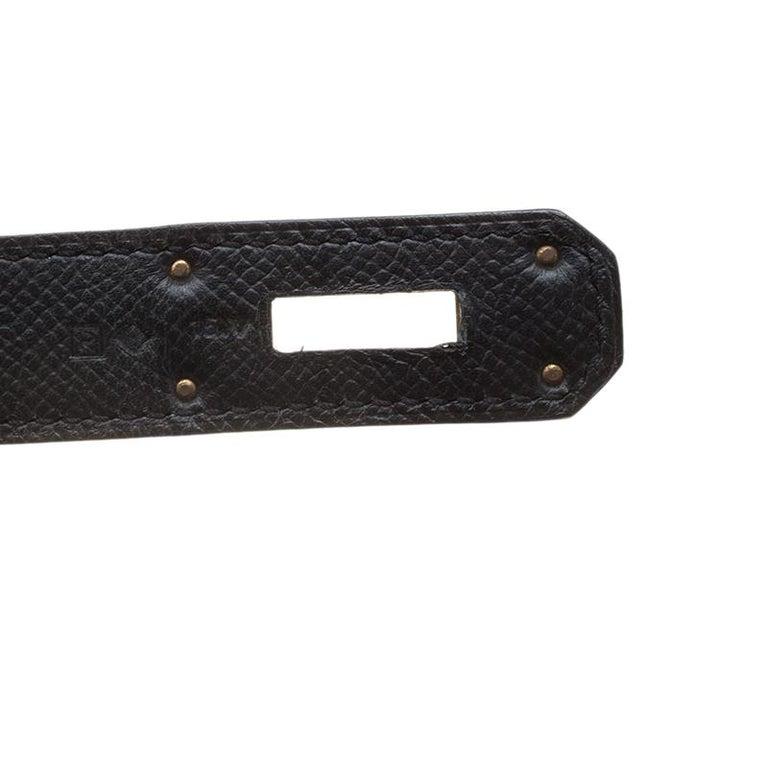 Hermes Black Epsom Leather Gold Hardware Kelly Sellier 40 Bag For Sale 5