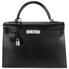 Hermès Black Epsom Sellier Kelly 32 PHW