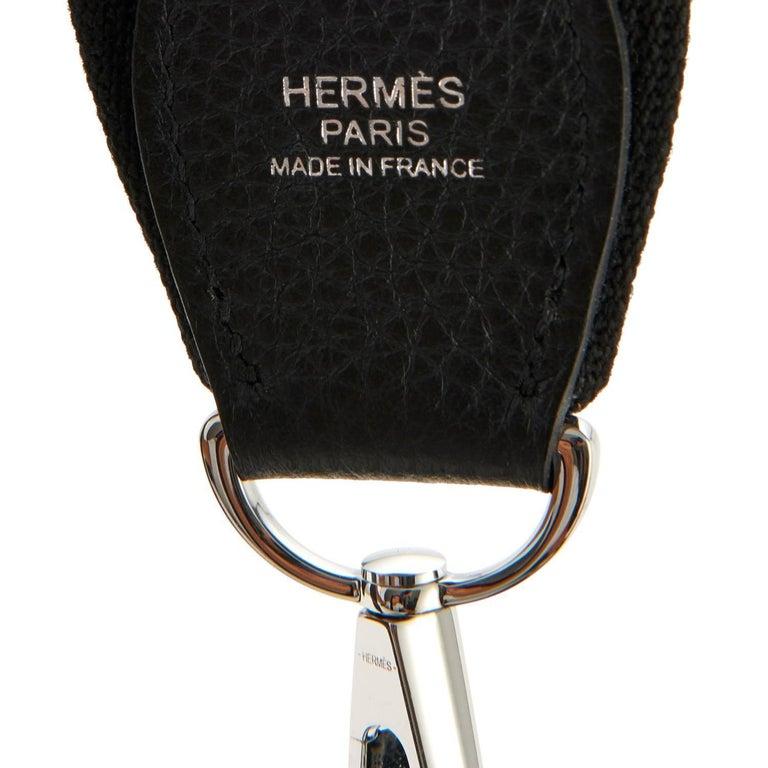 Hermes Black Evelyne III 29cm PM Cross-Body Messenger Bag NEW GIFT For Sale 3