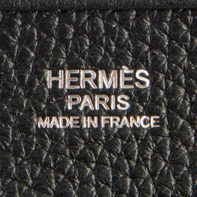 Hermes Black Evelyne III 29cm PM Cross-Body Messenger Bag NEW GIFT For Sale 4