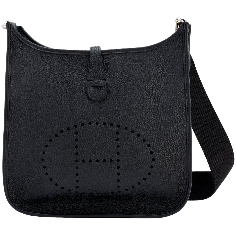 Hermes Black Evelyne III 29cm PM Cross-Body Messenger Bag NEW GIFT