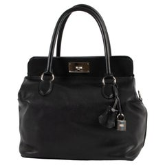 Hermès Black Evercolor Toolbox 26 Bag
