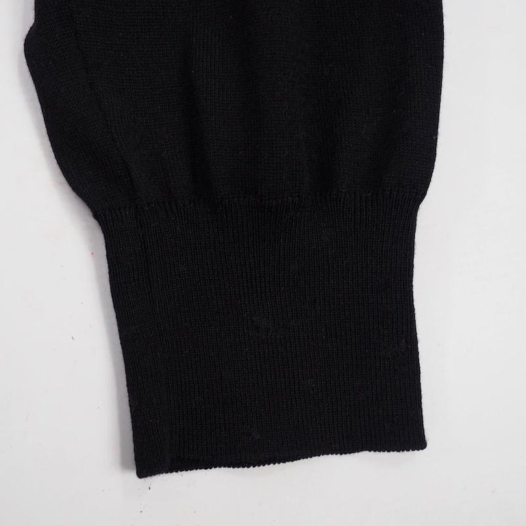 Women's or Men's Hermes - Black Fine Wool Sweater For Sale