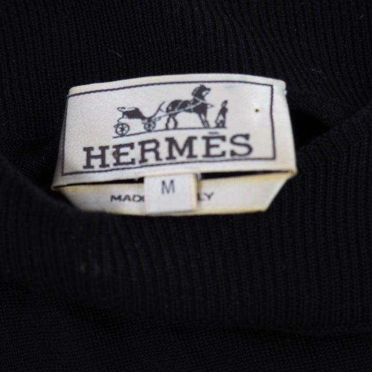 Hermes - Black Fine Wool Sweater For Sale 1