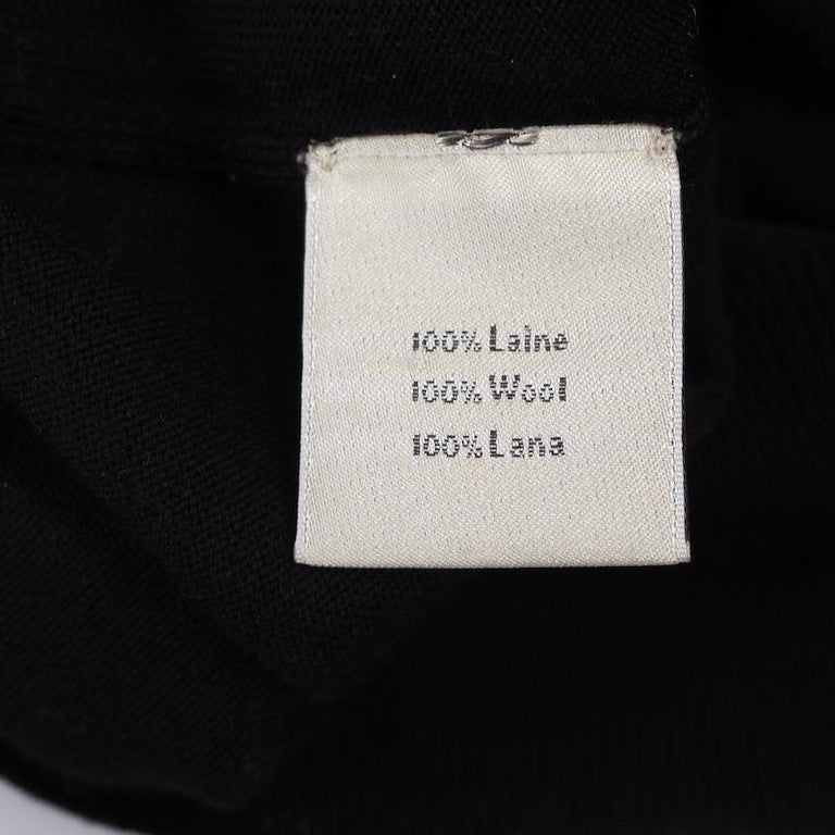Hermes - Black Fine Wool Sweater For Sale 2