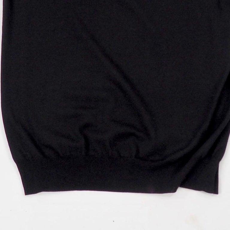 Hermes - Black Fine Wool Sweater For Sale 3